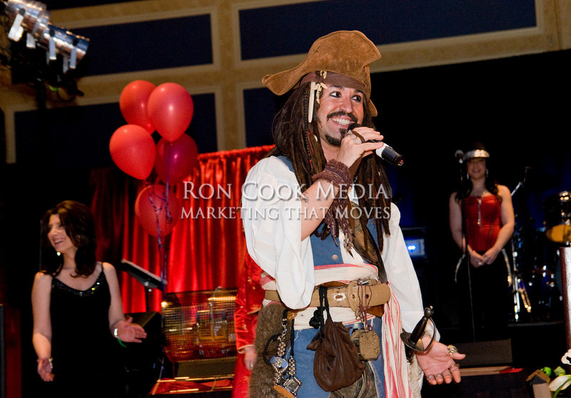 Sam the Pirate doing what he does best
