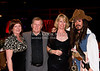 Jane Moore, Drum Macomber, Karen Cook and Sam the Pirate