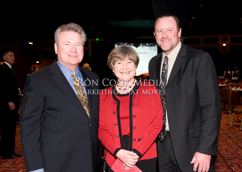 Ernie Ewin, winner of the George Felix Volunteer of the Year, Deanna Weeks, winner of the Jim Schmidt Business Advocate Award, and Steve Devan, winner of the C. Allen Paul Award