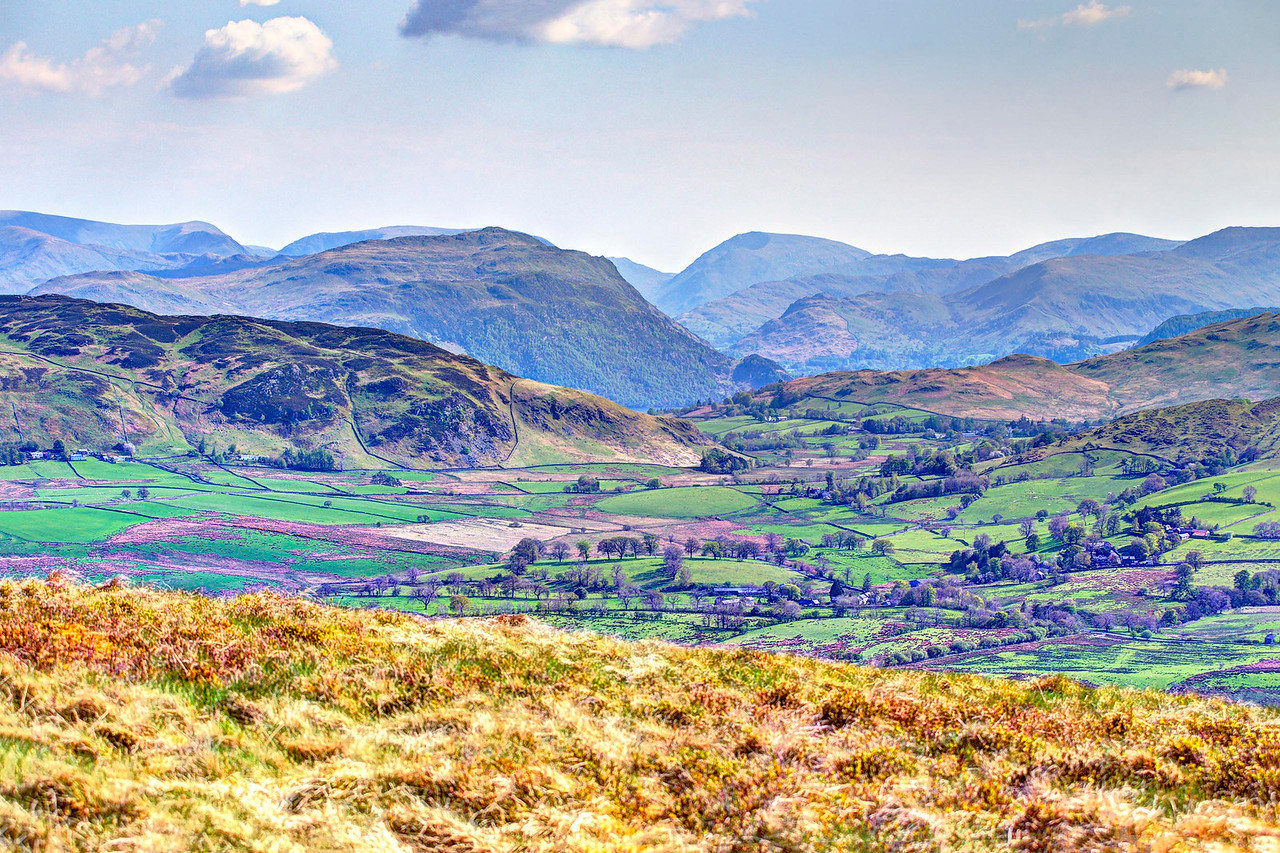 Place Fell, Red Screes and Kirkstone Pass from Great Mell Fell