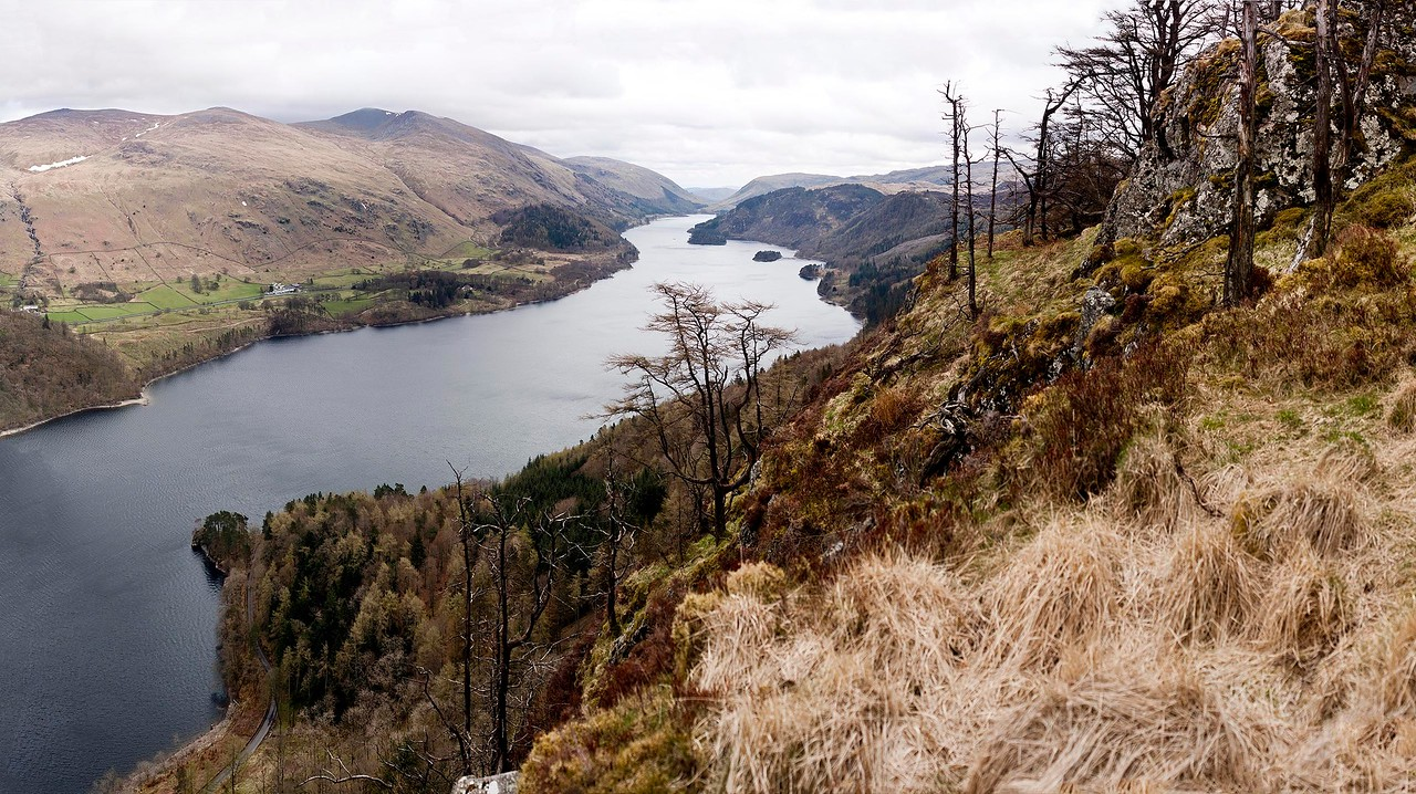 Thirlmere and Helvellyn from Raven Crag