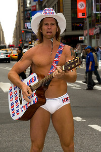The Naked Cowboy in Times Square