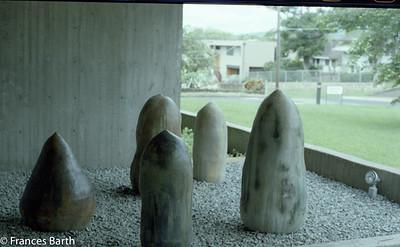 Outdoor ceramic sculptures_Toshiko Takaezu, Oahu 1981