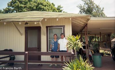 Ron and Sid at the Araki house, north shore HI