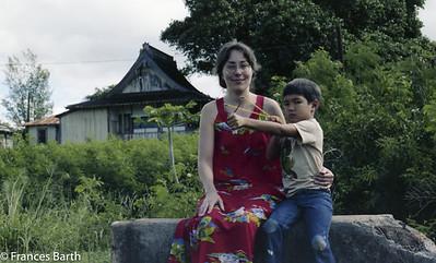 Frances and nephew Aaron, Kawailoa, Oahu