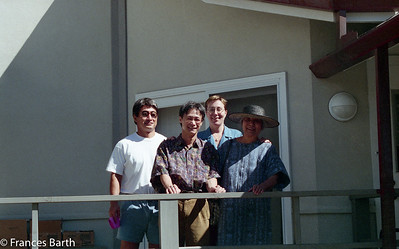 Sid, ?, Frances and Toshiko Takaezu Honolulu_96