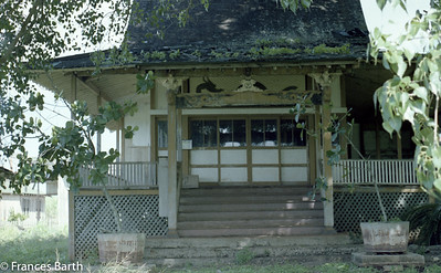 Buddist Temple built by sugar cane workers, Kawailoa-north side Oahu 1981