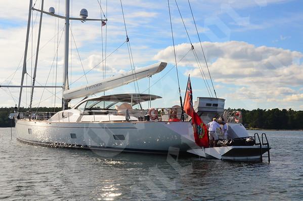 Megayacht Artemis visits Blue Hill