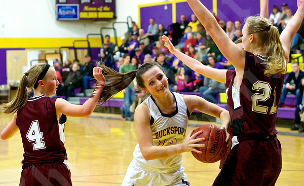 Girls' basketball: Bucksport vs. GSA 2/3/2015