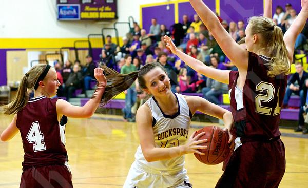 Girls' basketball: Bucksport vs. GSA 2/3/2015