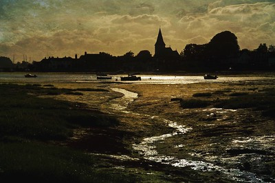 The harbour and church at Bosham