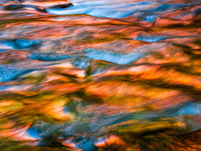 Reflecting on Autumn: Zion Narrows: Zion National Park Fine Art Landscape Nature Photography