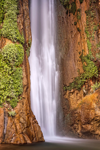 A close up of Deer Creek falls