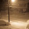 Still snowing at 9 p.m.