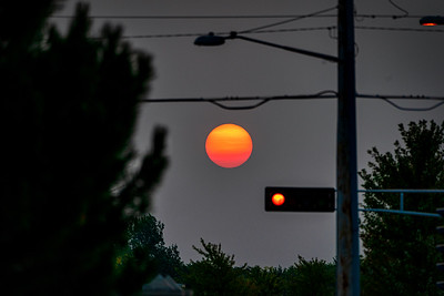 Smokey Stop Light Sunrise