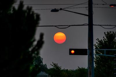 Smokey Stop Light Sunrise