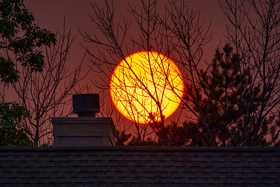 Smokey Chimney Sunset