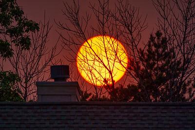 Smokey Chimney Sunset