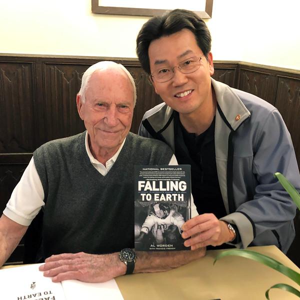 With Apollo 15 astronaut, Al Worden<br /> Explorers Club Headquarters, Manhattan, NYC<br /> March 17, 2019