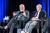 """""""Buzz Aldrin and Michael Collins, Astronaut panel discussion at the Marriott Marquis for the Explorers Club Celebration of the 50th Anniversary of the Apollo Moon Landing"""".<br /> Copyrighted Photo by Marc Bryan Brown."""