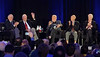 Al Worden waves to the audience.<br /> ECAD Blast Off! - Apollo Astronaut Symposium<br /> Marriott Marquis Hotel<br /> Saturday, March 16, 2019
