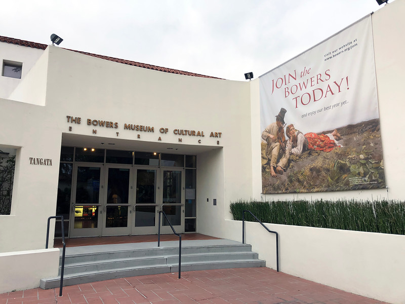 Entrance of the Bowers Museum of Cultural Art