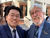 Kevin Lee with Jean-Paul Cousteau<br /> WECAD 2019, Bowers Museum, Santa Ana, California