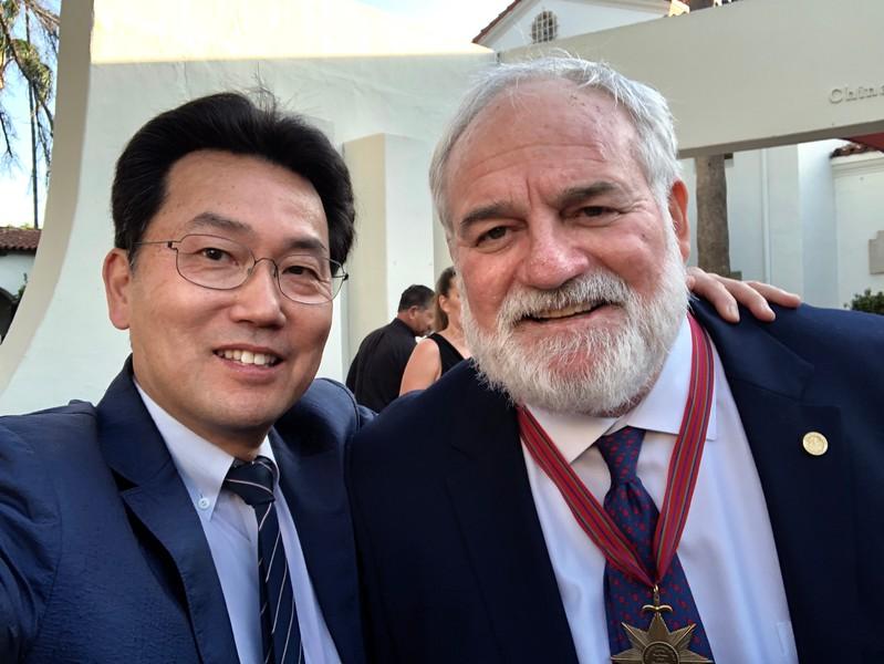 Kevin Lee with David Dolan<br /> WECAD 2019, Bowers Museum, Santa Ana, California