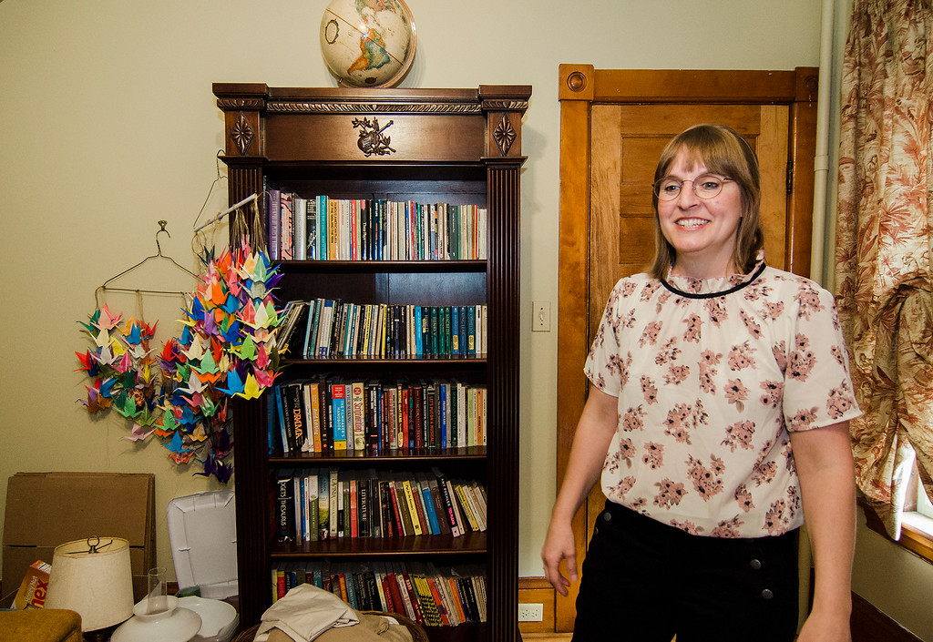 . 1970\'s decor fills the Fitchburg home of Independent filmmaker Jenn Potts as she prepares to shoot her short film \'The Extraordinary World Of Cecily Blinkstop\', as seen on Wednesday, July 12, 2017. SENTINEL & ENTERPRISE / Ashley Green