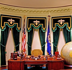 Recreation of the Oval Office in the Franklin D.Roosevelt Library
