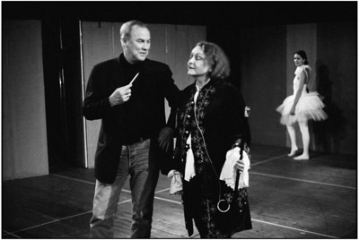 Robert Wilson and Christine Fersen in rehearsal