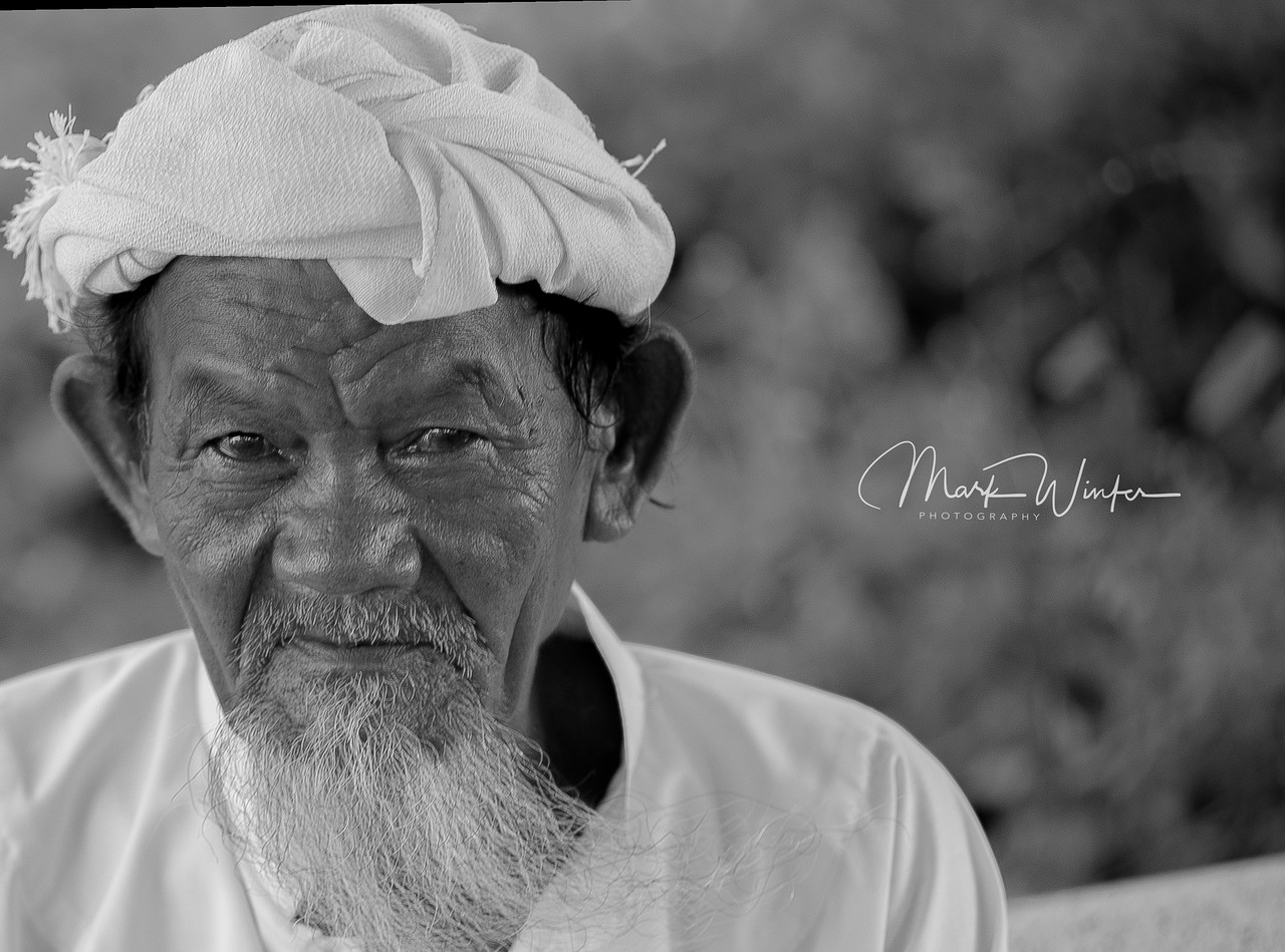 Cham Temple, Phan Thiet. This man at first refused to have his photo taken. A member of the Cham community, he soon relented.