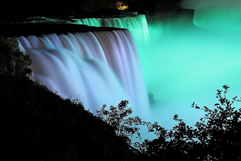 Image #0057<br /> American & Canadian Falls ~ Niagara Falls, N. Y.