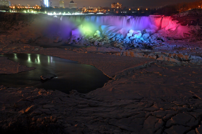 Image #6374<br /> The American Falls as viewed from Canada.