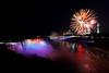 Image #420<br /> Fireworks over American & Canadian Falls ~ Niagara Falls, N. Y.