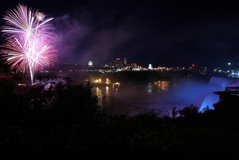 Image #7103<br /> Fireworks over the American Falls ~ Niagara Falls, N. Y.