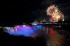 Image #517<br /> Fireworks over American & Canadian Falls ~ Niagara Falls, N. Y.