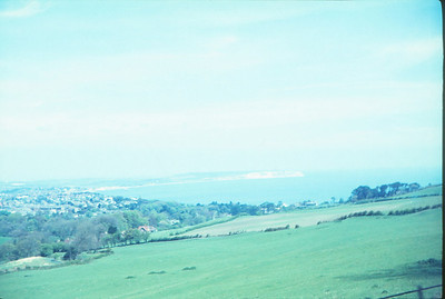View across Sandown bay