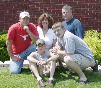Front: Jered and Jeremy,  Back: Jesse, Cindy, Steve