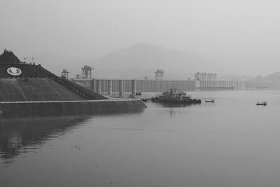 Upstream of the Dam