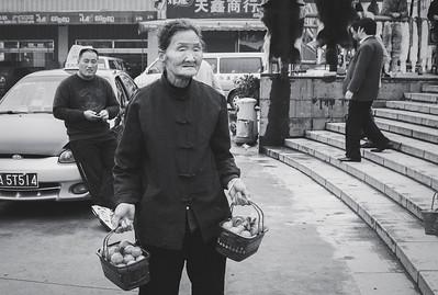 Xian Market Trader