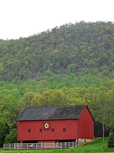 A barn in spring on Mountain Road in Mercersburg, PA.