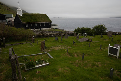 Old graveyards accompany most.  In some areas there are even 'viking graves' but needless to say not in the church graveyards.