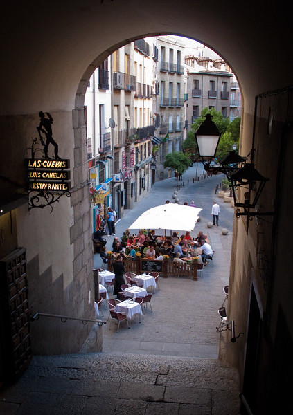 Sidewalk cafes are everywhere in Madrid