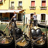 More gondoliers and gondolas in the beautiful city of Venice.
