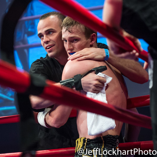 Bradley Wilcox congratulated by boxer brother Steven Wilcox.