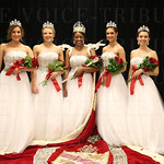 Princesses Sophie Knight and Kathryn Ashby, Queen Briana Lathon, and Princesses Kyle Hornback and Madison Evans.