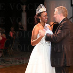 Mike Berry, President and CEO of the Kentucky Derby Festival and the 2015 Kentucky Derby Festival Queen Briana Lathon danced.