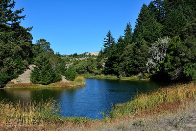 Horseshoe Lake in October, Coast Ranges, Santa Clara County, California