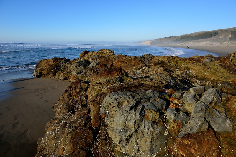 Hike at Pescadero State Beach, California.